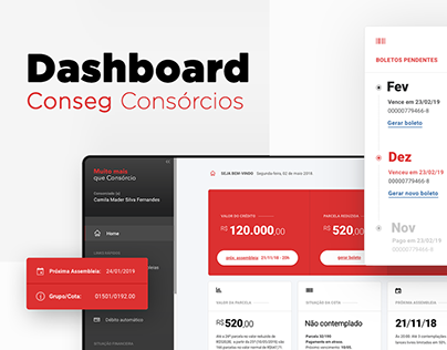 Dashboard CONSEG - UI/UX Website