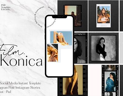 Konica - Instagram Film Frame