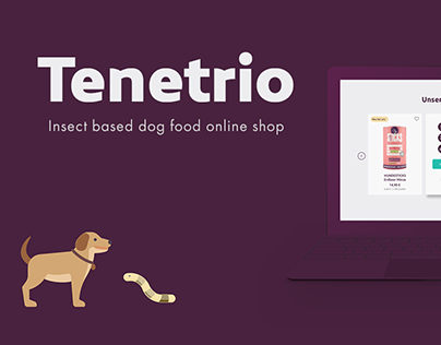 Tenetrio. Insect based dog food online shop