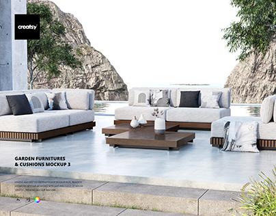 Garden Furnitures & Cushions Mockup 3