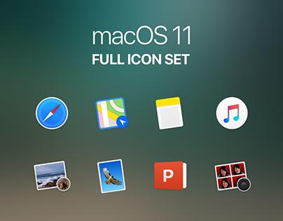 macOS 11 - Full Icon Set