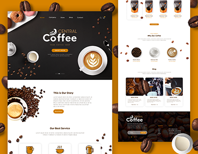 Landing Page Coffee Shop