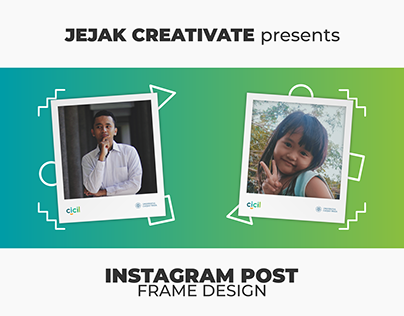 Instagram (Row) Post Design - Polaroid Frame