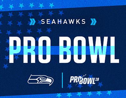 2019 Seahawks Pro Bowl Social Graphics