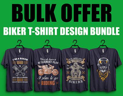 Biker T-shirt Design Bundle