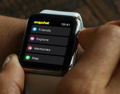 Snapchat redesign — iOS and watchOS concept