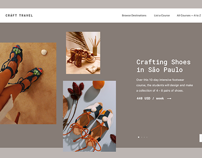 Craft Travel – interface for web service