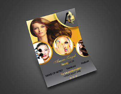 Flyer Beauty salon