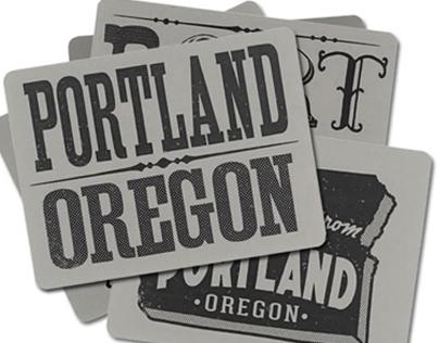 Portland Postcards, PDX, Oregon