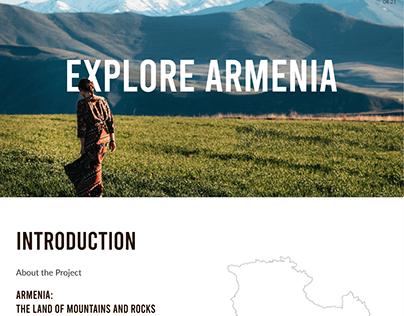Explore Armenia Traveller Website | UX/UI Design
