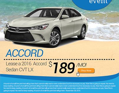Honda Accord Advertisement