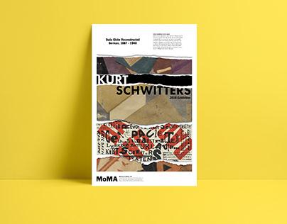 Kurt Schwitters - MoMA Exhibition Poster