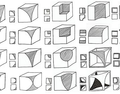 Cube form studies