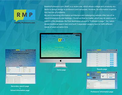"""ratemyprofessors.com"" Redesign"