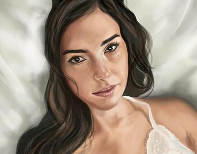 Digital Painting . Gal Gadot 2