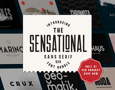 THE SENSATIONAL SANS SERIF FONT BUNDLE - 95% OFF!