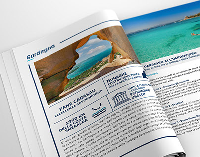 Catalog design of the boat holidays