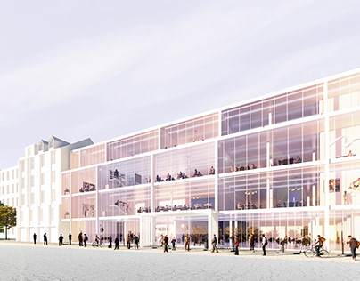 concept of office building in Gdynia