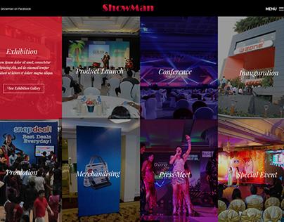 ShowMan Website Design