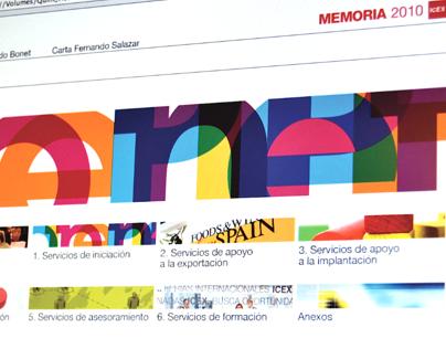 ICEX. Memoria Anual 2010