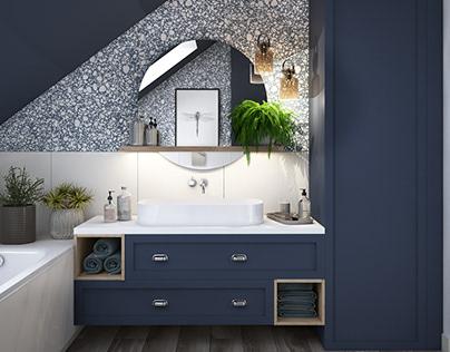 Terrazzo in bathroom