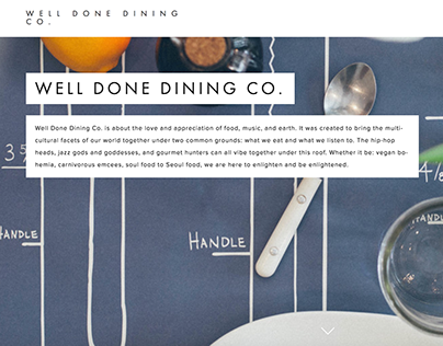 Well Done Dining - Photography & Web Design