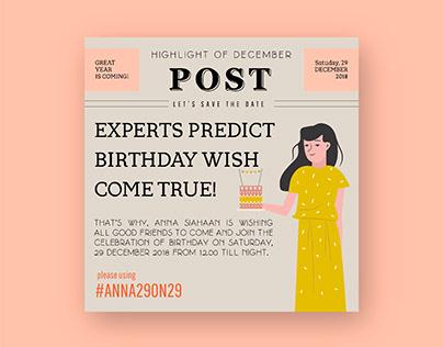 Anna's Birthday Invitation