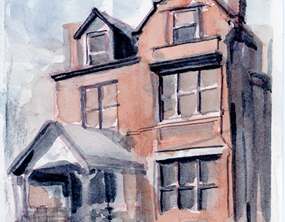 Watercolor Houses 1