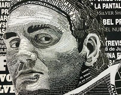 Roger Federer - Collage Tipográfico