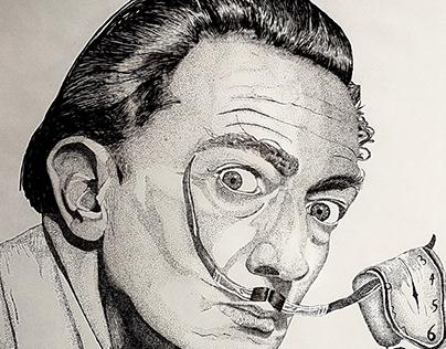 Salvador Dali - Pointillism (puntillismo)