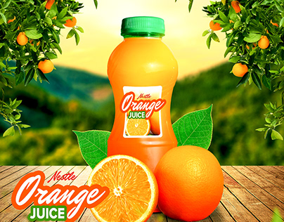 Orange Juice Ads Post for social media