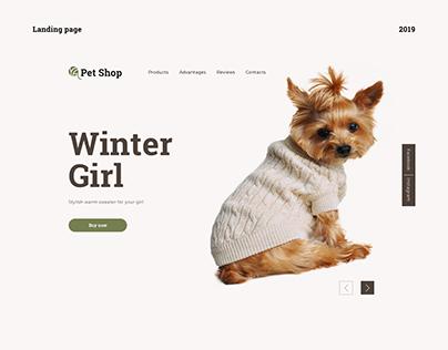 Pet Shop - Landing Page