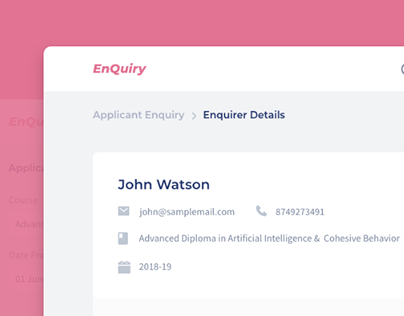 EnQuiry UI Design