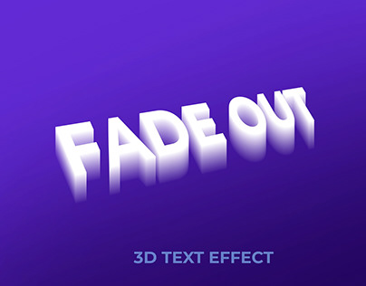 Fade out 3d text effec