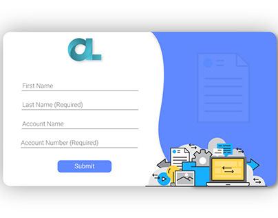 Web form for website
