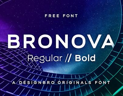Free Font Bronova Regular & Bold