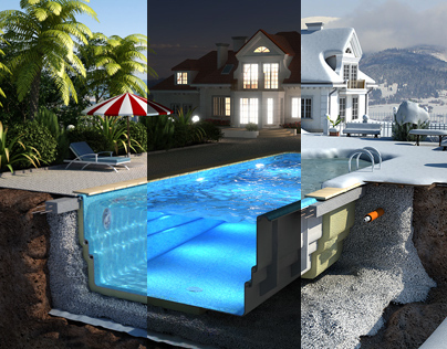 Composite Pools: Promotional Illustrations