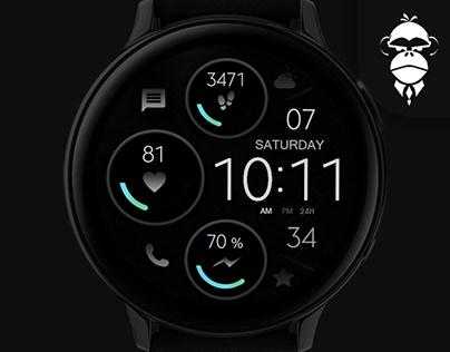 Black - Minimal Watch Face