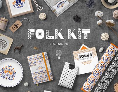 Folk kit. Scandi collection