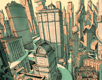 EXTRAPOLIS - Interactive Drawing City