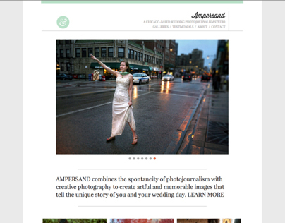 Ampersand Wedding Photography website