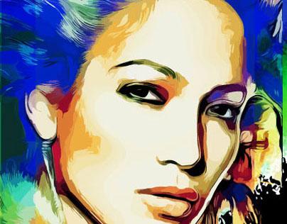 Jennifer Lopez Illustration