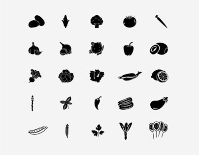 Vegetable Icons | Patterns of Icons | Solid Icons