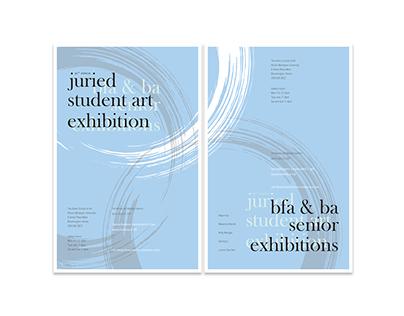 IWU student show & senior exhibition poster set