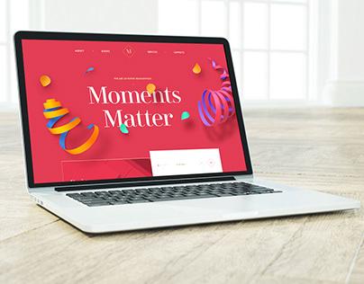 Moments Matter Web UI Design