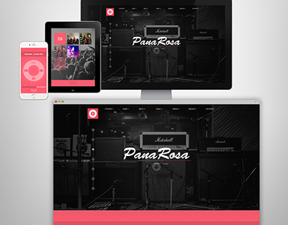 Web-Site for music band PanaRosa