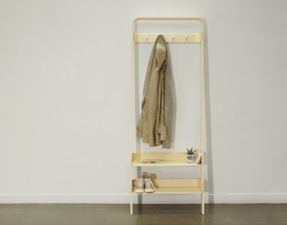 Wall Leaning Coatrack