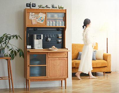 实木餐边柜设计