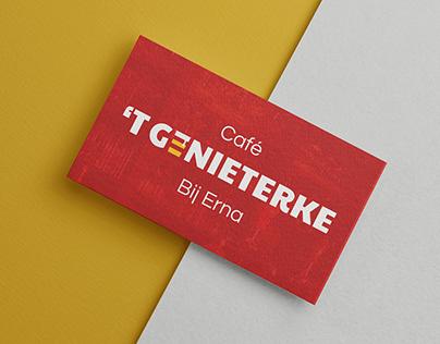 Visitekaartje - Café 't Genieterke