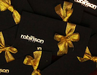 Rebranding of Robinson club gift certificates.